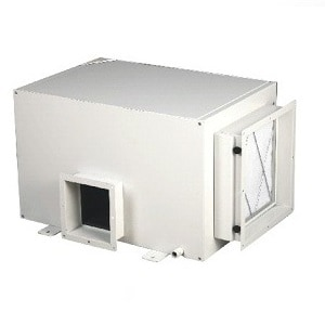 Ducted dehumidifier or ceiling mount dehumidifier.