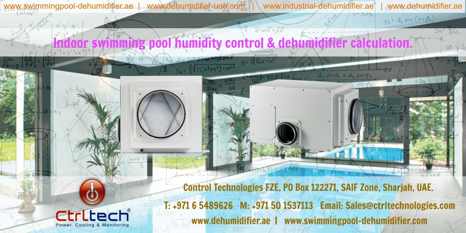 Pool humidity control can be done with help of swimming pool dehumidifiers.