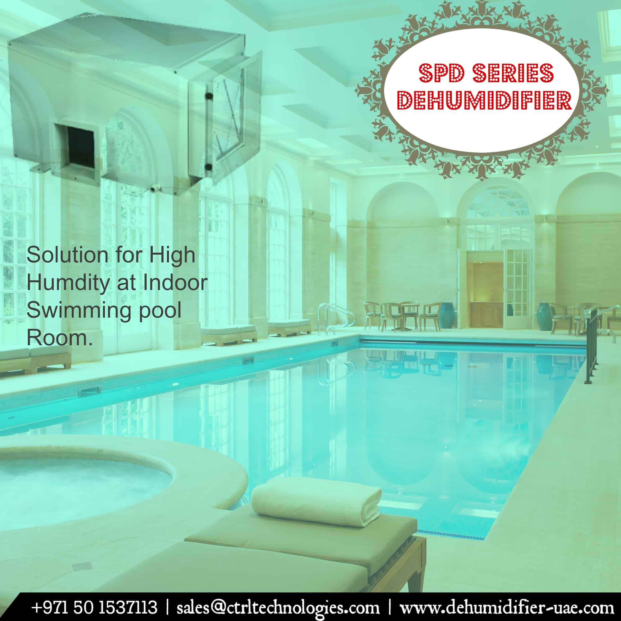 Dehumidifier for swimming pool & Spa.
