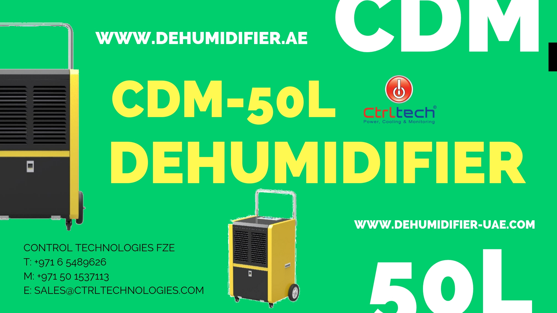CDM-50L Industrial Dehumidifier or Commercial dehumidifiers Review.