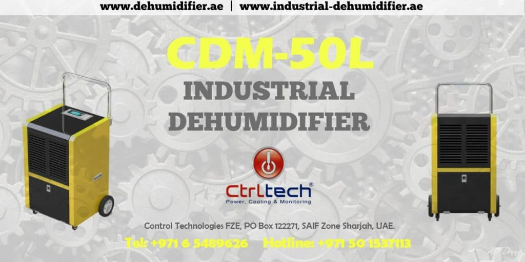 Industrial commercial dehumidifier of 50 liter per day.