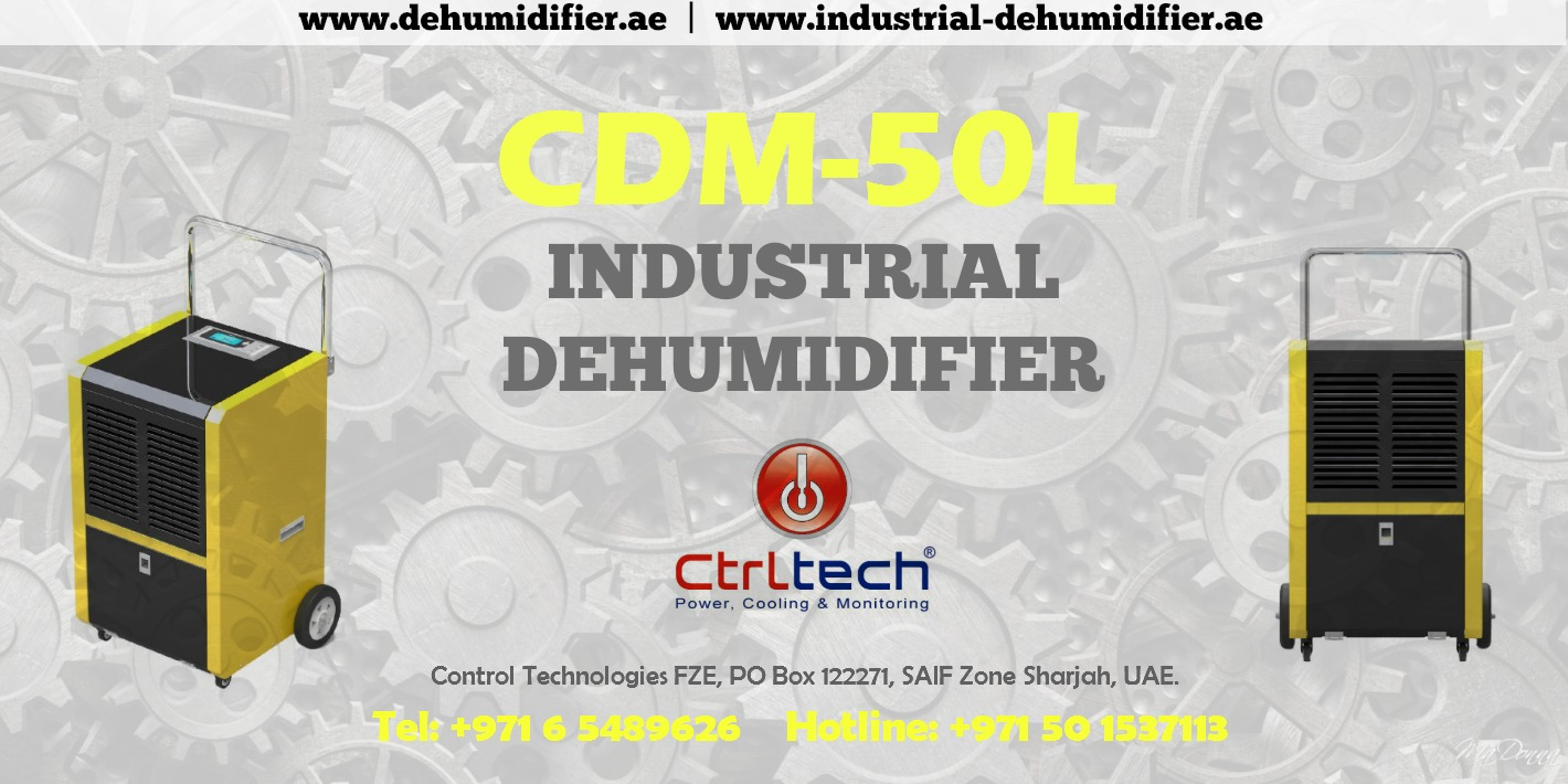 Portable industrial dehumidifier of 50 liter per day.