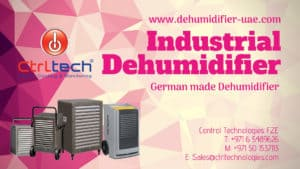 Industrial dehumidifier by Aerial, Germany now in UAE