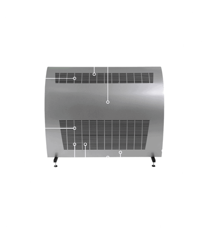 DRY 1200M dehumidifier for swimming pools.