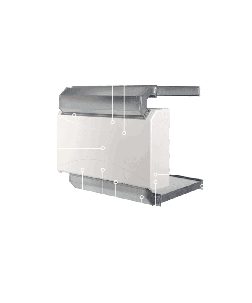 DRY 400 and 500 in wall dehumidifier features.