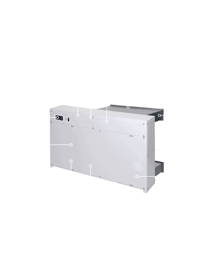 DRY 800 and 1200 through the wall dehumidifier features.
