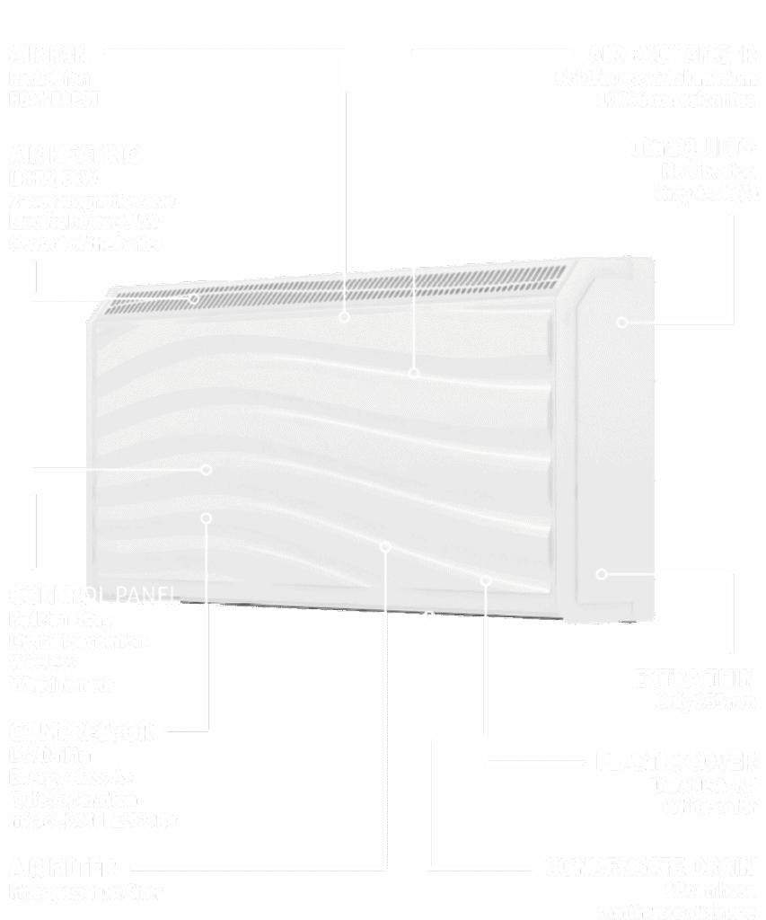 DRY500 Wave wall mounted dehumidifier.