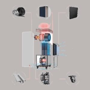 FSD-240L indoor swimming pool dehumidifier inside.