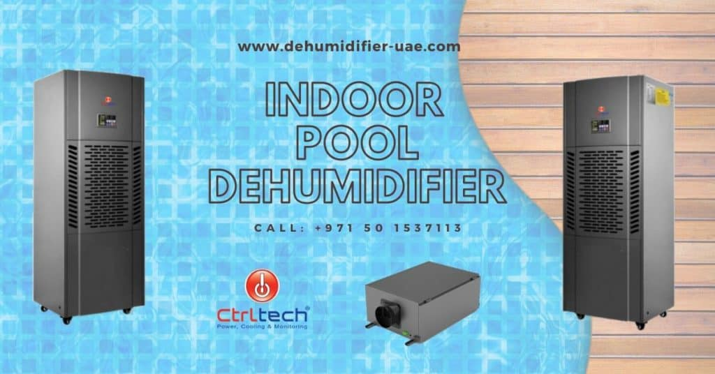 Indoor pool dehumidifier for swimming room in Dubai.