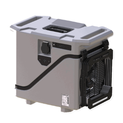 AD 20 compact dehumidifier for window condensation.
